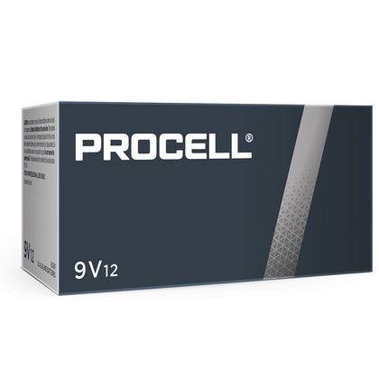 Duracell Procell Industrial 9V PC1604 Bulk Box of 12 - batteryspecialists