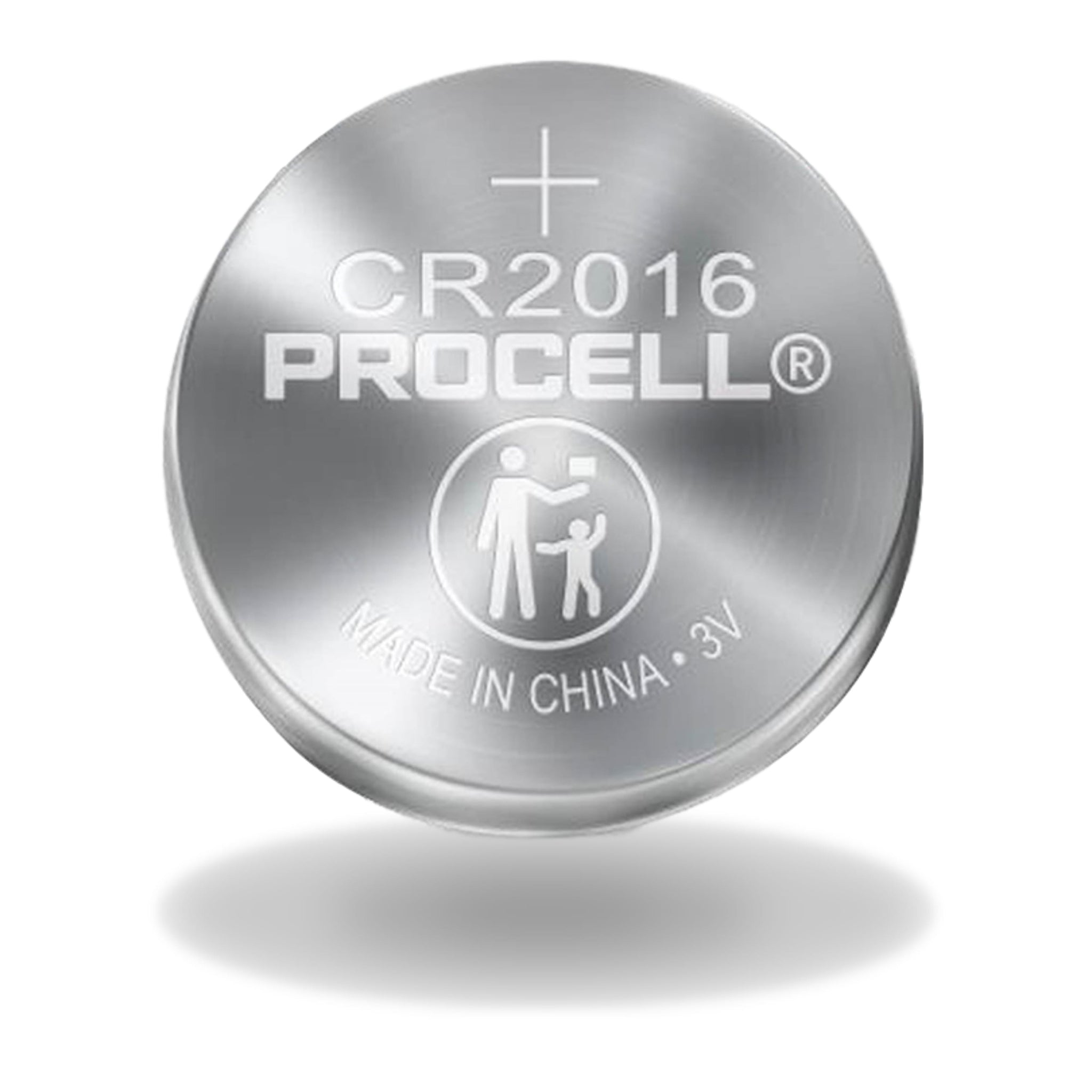 PROCELL CR2016 3V Lithium Coin Battery Bulk Strip of 5