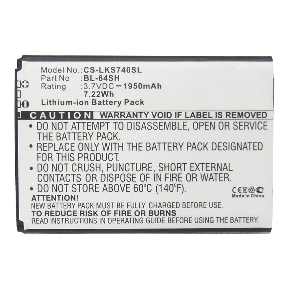 Stryka Battery to suit LG BL-64SH 3.7V 1950mAh Li-ion