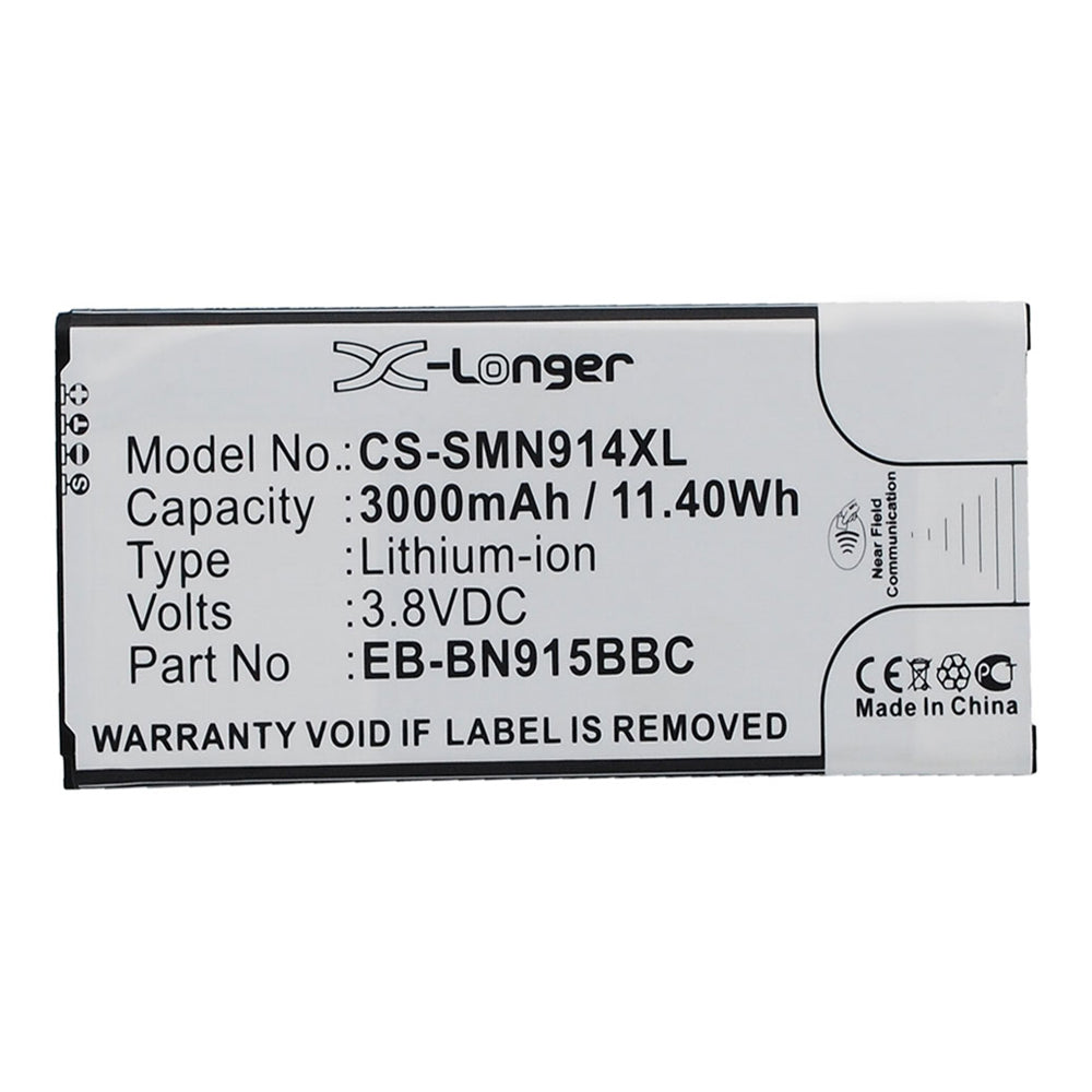 Stryka Battery to suit SAMSUNG Note Edge 3.8V 3000mAh Li-ion