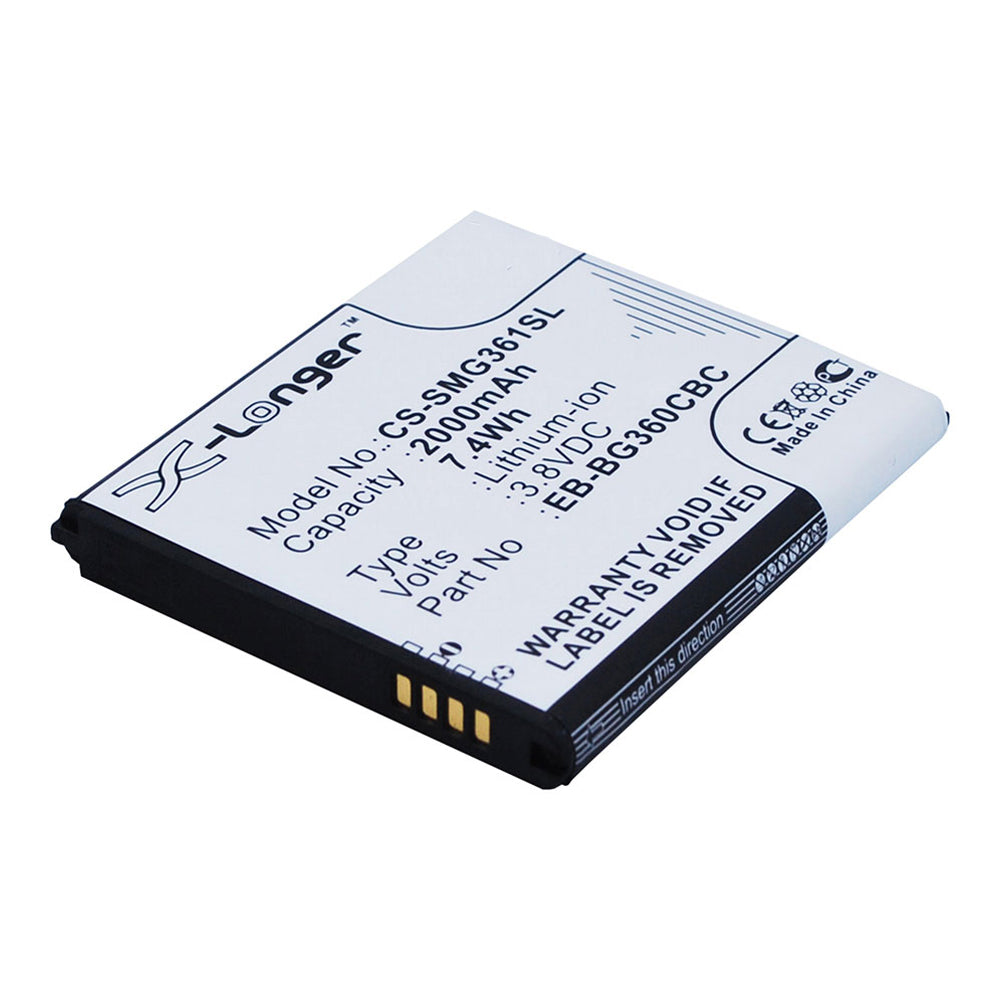 Battery to suit SAMSUNG Galaxy Core Prime 3.8V 2000mAh Li-ion
