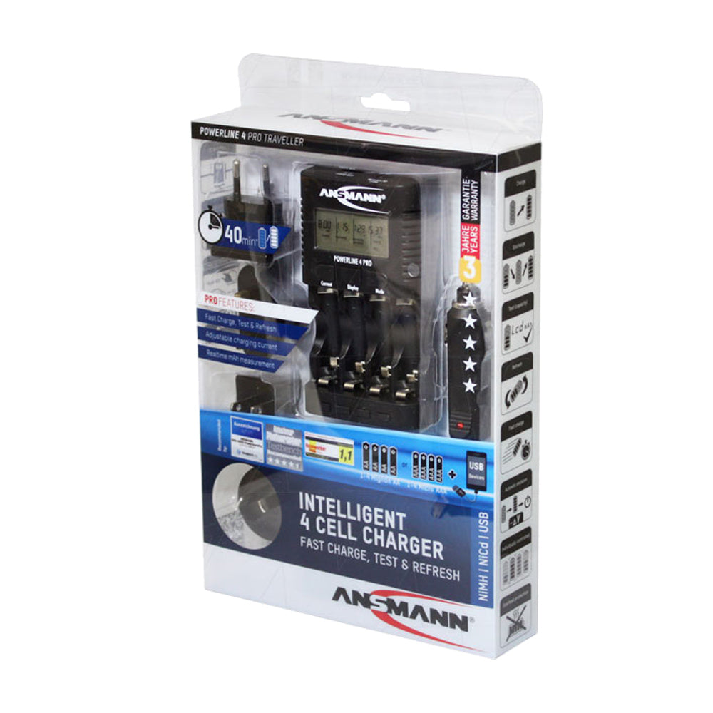 Ansmann Powerline 4 Pro 1-4 Cell AA-AAA NiCd-Ni-MH Charger