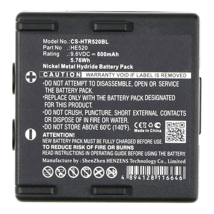 Stryka Battery to suit HETRONIC 68300510 9.6V 600mAh NiMH