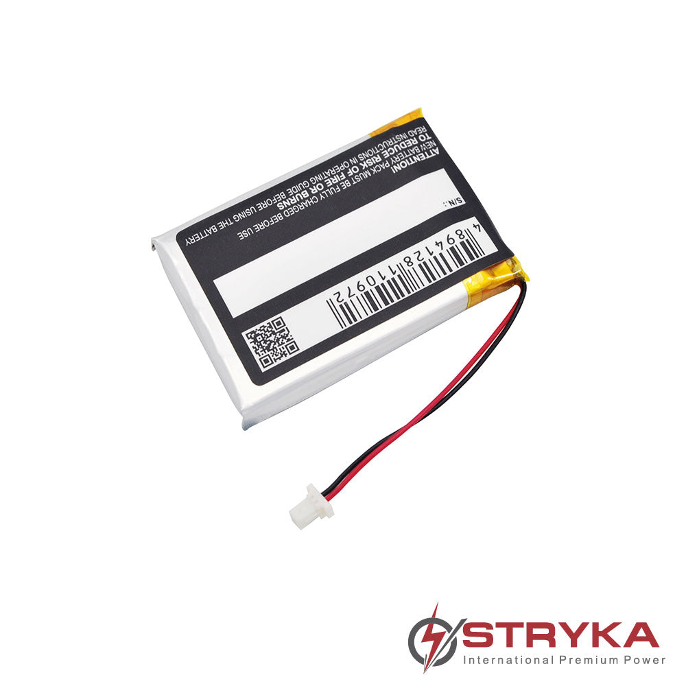 Stryka Battery to suit IZZO Swami 4000 Golf GPS 3.7V 1000mAh Li-ion - 4 - 6 Weeks Delivery