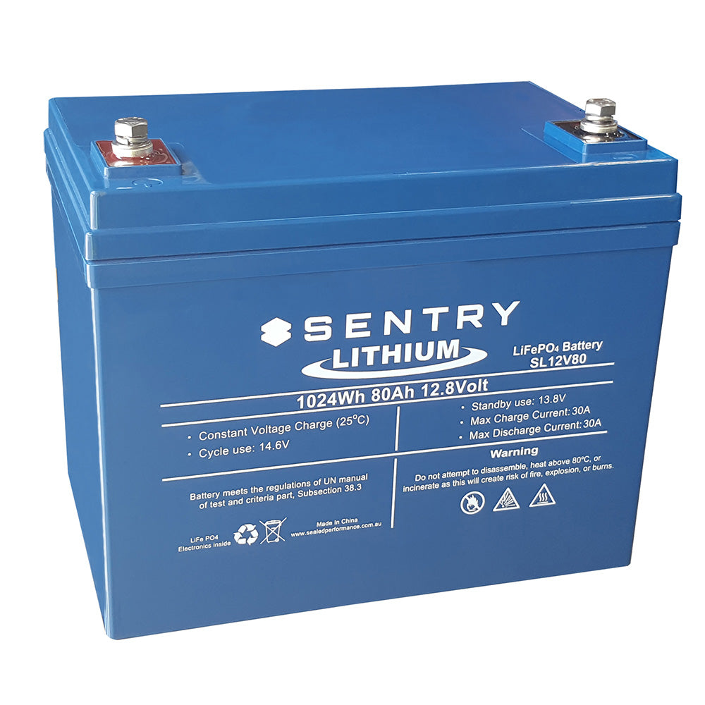 Sentry Lithium 12V 80AH Battery