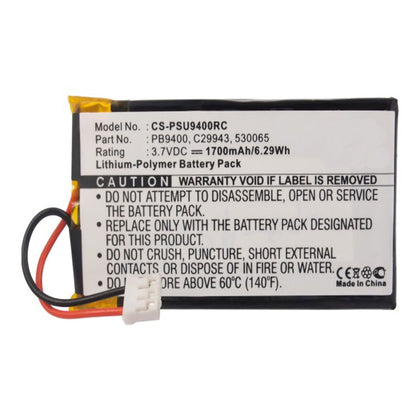 Stryka Battery to suit PHILIPS Pronto TSU-9400 3.7V 1700mAh Li-ion - 4 - 6 Weeks Delivery