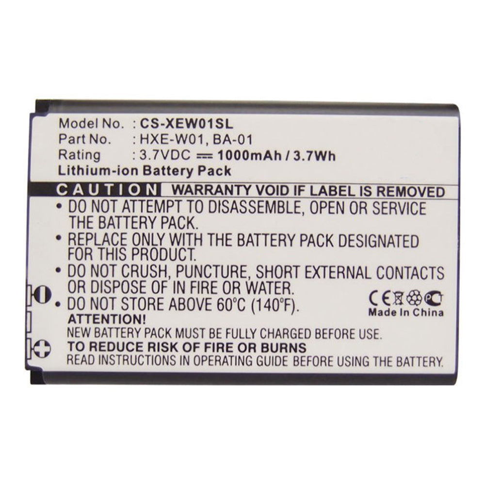 Stryka Battery to suit QSTARZ HX-N3650A-G 3.7V 1000mAh Li-ion - 4 - 6 Weeks Delivery