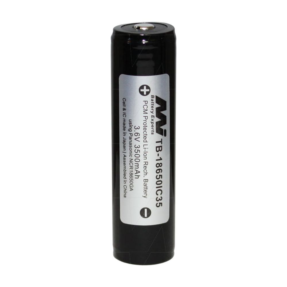 3500mAh 18650 size Lithium Ion Torch Battery (sometimes called 18700)