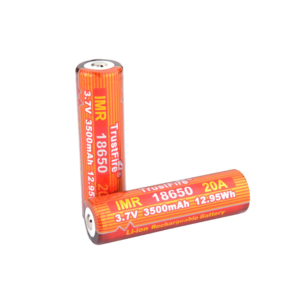 Trustfire 18650 3.7V 3500mAh 20A High Rate Discharge Button Top No IC