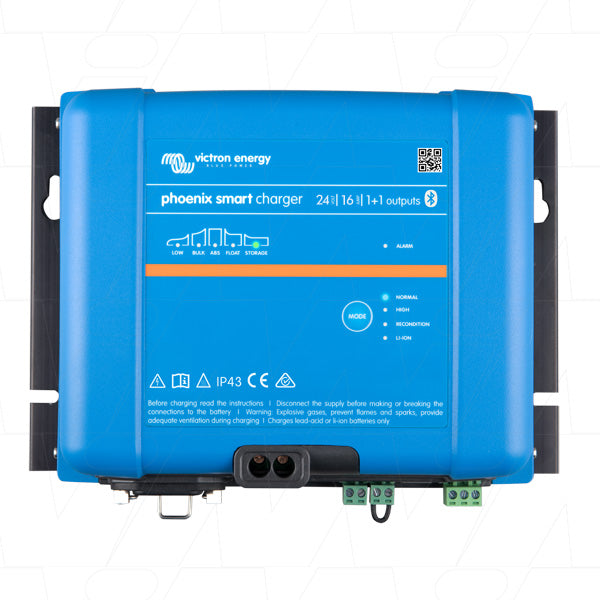Phoenix Smart IP43 SLA/LiFePO4 Charger 24V VECIP43-24/16-1+1