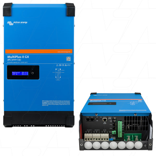 MultiPlus-II Inverter & SLA/LiFePO4 Charger 48V VEICMPII-48/3000/35-32GX