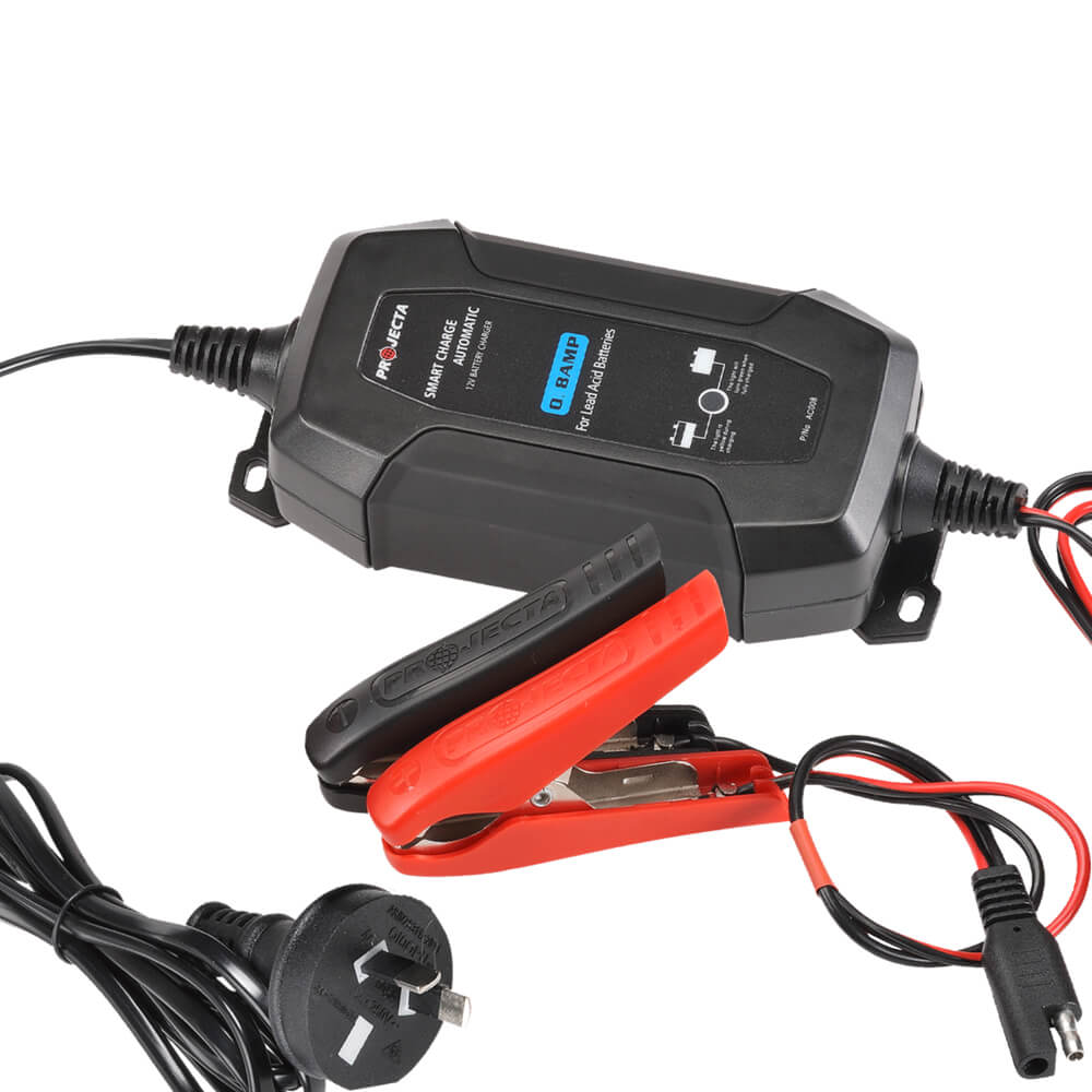 Projecta 12V AUTOMATIC 1.5 AMP 4 STAGE BATTERY CHARGER