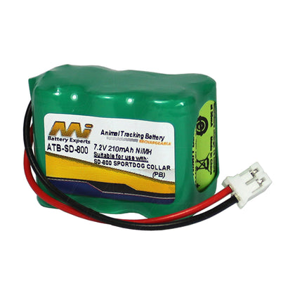 7.2V 210mAh NiMH Dog Training battery suit. for Kinetic & Sportdog