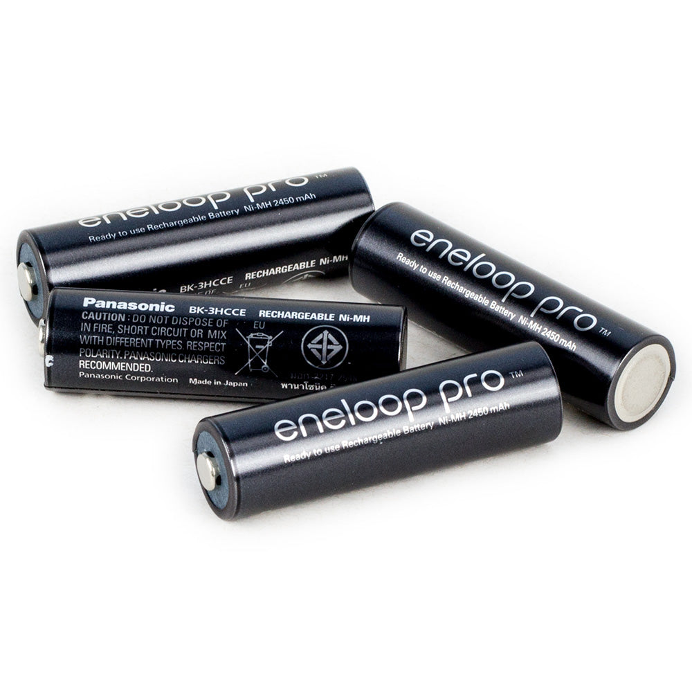Eneloop Pro AA 2450mAh NiMH Bulk Black HIGH CAPACITY BATTERIES