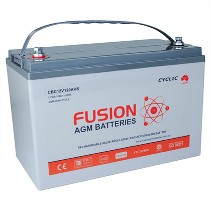 Fusion 12V 124Ah Deep Cycle AGM Battery