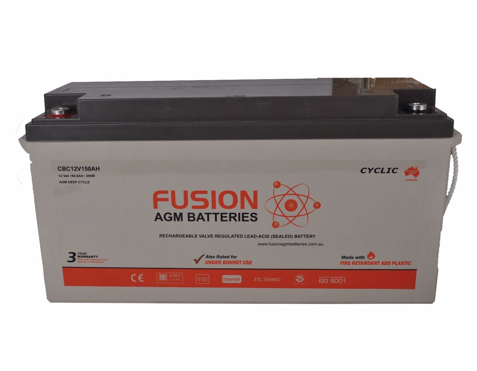 Fusion 12V 156Ah Deep Cycle AGM Battery
