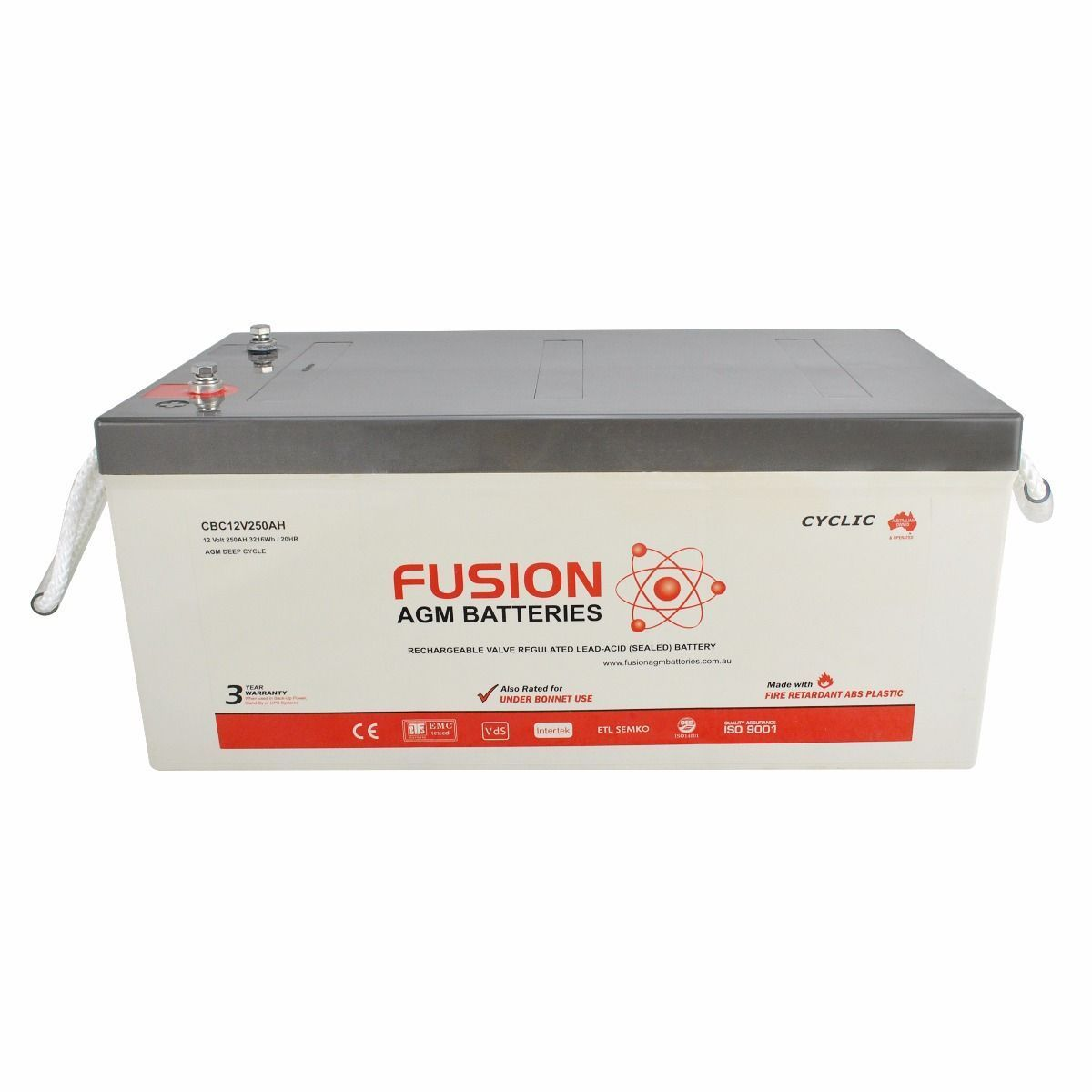 Fusion 12V 260Ah Deep Cycle AGM Battery