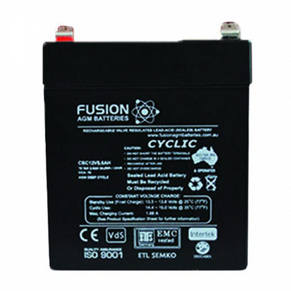 Fusion 12V 5.6Ah Deep Cycle AGM Battery
