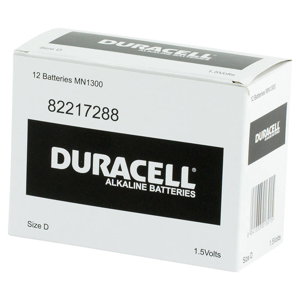 Duracell Coppertop D battery Bulk box of 12