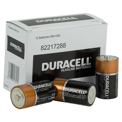 Duracell Coppertop D size battery box of 12