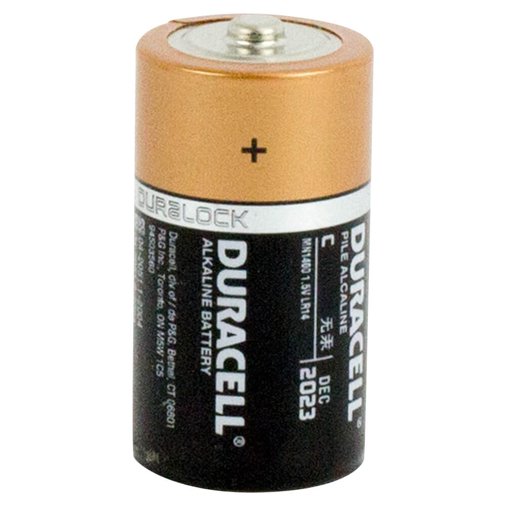 Duracell Coppertop C size battery box of 12