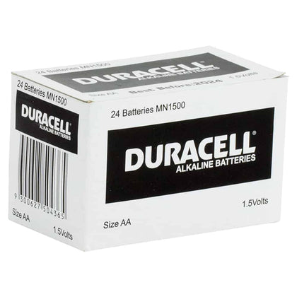 Duracell Coppertop 1.5V AA battery box of 24 - batteryspecialists