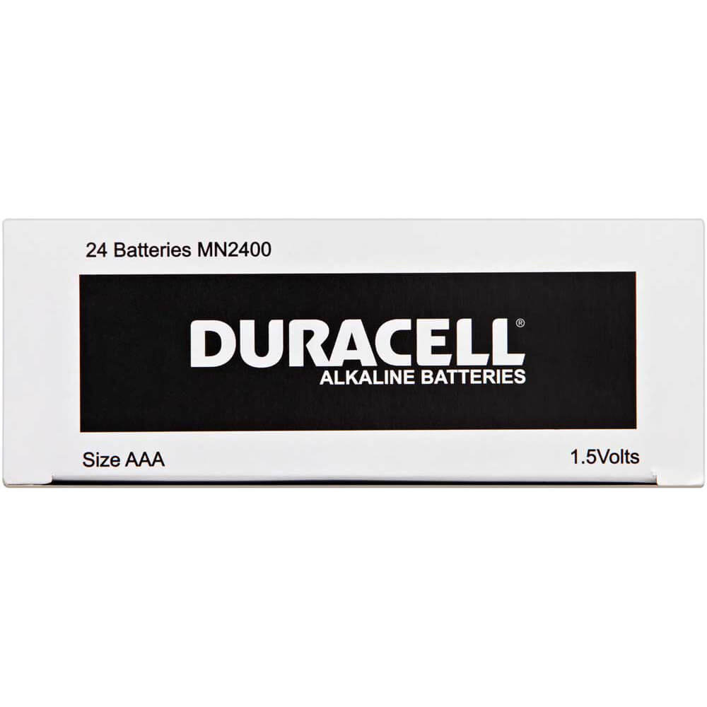 Duracell Coppertop 1.5V AAA battery box of 24