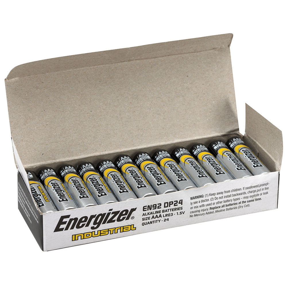 Energizer Industrial Bulk AAA Battery Box of 24