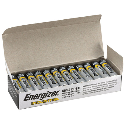 Energizer Industrial Bulk AAA Battery Box of 24 - batteryspecialists
