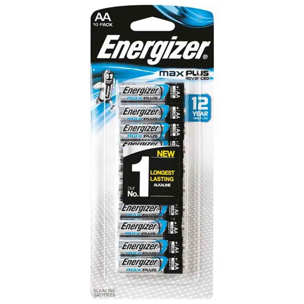 Energizer MAX Plus Advanced AA Alkaline Batteries 10 Pack
