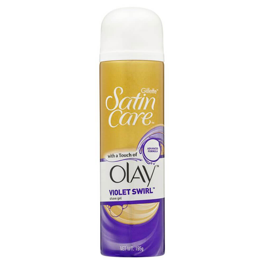 Satin Care Gel with Olay Violet Swirl 195g