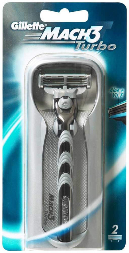 Gillette Mach3 Turbo Razor 2up
