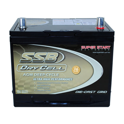 SSB 12V 60Ah Dry Cell Deep Cycle Battery
