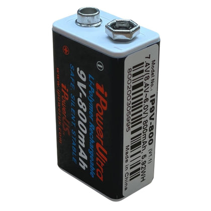 I-Power 9V 800mAh Li-Polymer Rechargeable Battery