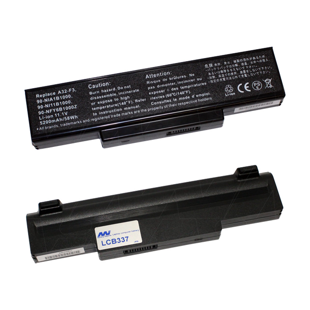 11.1V 58Wh - 5200mAh LiIon Laptop battery suit. for Many models