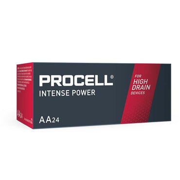 Procell INTENSE Power AA Battery 1.5V Alkaline for HIGH DRAIN Bulk Box of 24