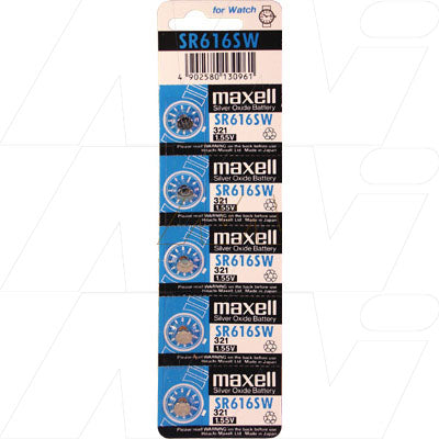 Maxwell Silver Oxide Watch Battery V321 SR616SW