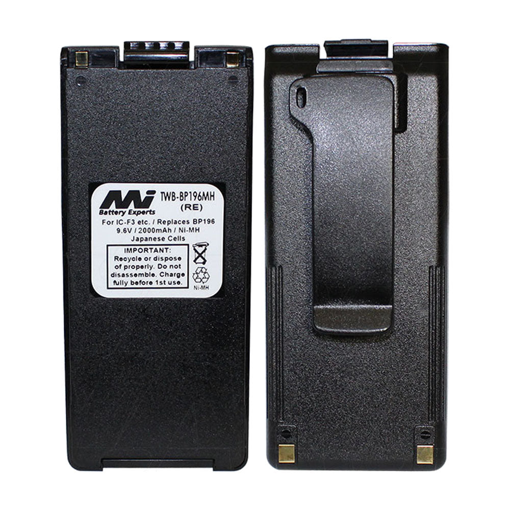 9.6V 1600mAh NiMH Two Way Radio battery suit. for Icom
