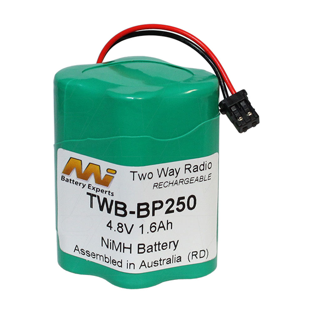 4.8V 1600mAh NiMH Two Way Radio battery suit. for Uniden