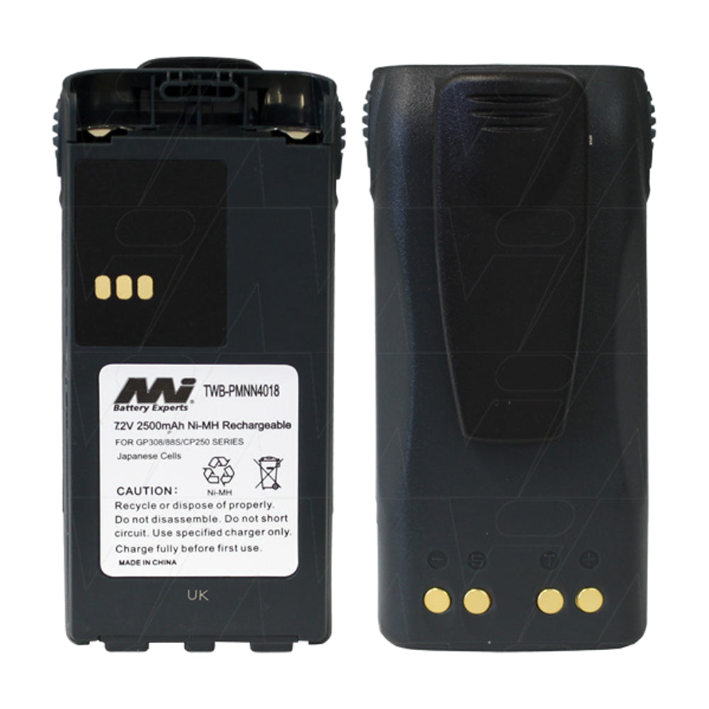 7.2V 2500mAh NiMH Two Way Radio battery suit. for Motorola GP308-GP88s