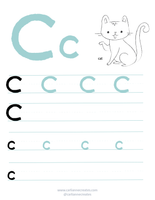 Preschool Writing Pages_ A-C