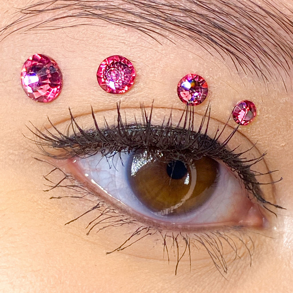 Pink Gems for makeup | Pink Rhinestones for makeup | Pink Swarovski Rhinestones | Pink Flatback Rhinestones | Euphoria Face Jewels | Glass Rhinestones | High Quality Gems