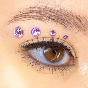 """Lavender"" Jemme Quad - Light Purple Rhinestones"