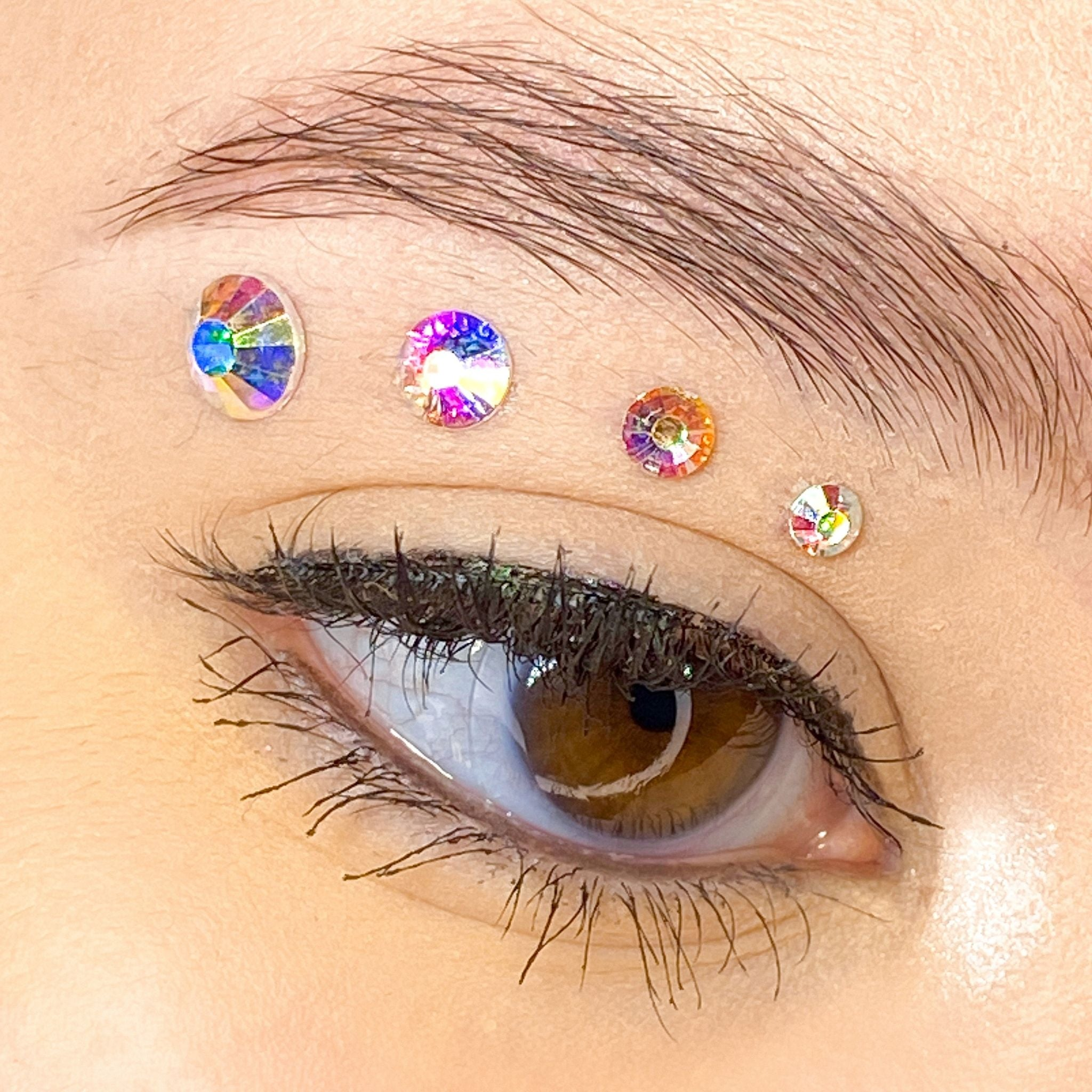 Holographic Crystal Gems for makeup | Holographic Crystal Rhinestones for makeup | Crystal AB Swarovski Rhinestones | Crystal AB Flatback Rhinestones | Euphoria Face Jewels | Glass Rhinestones | High Quality Gems