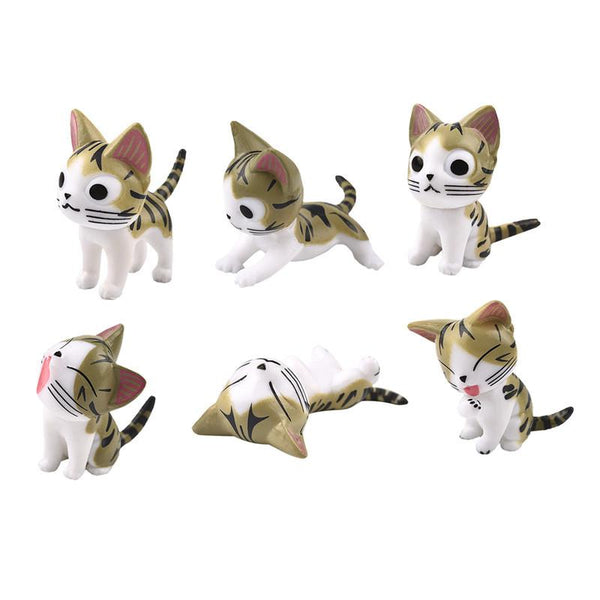 Mini Cat Figures (6 pcs/set)
