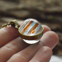 Glass Planets Necklace