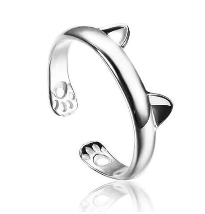 Cute Cat Ears Paw Ring