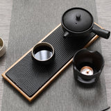 Bamboo and Ceramic Tea Tray
