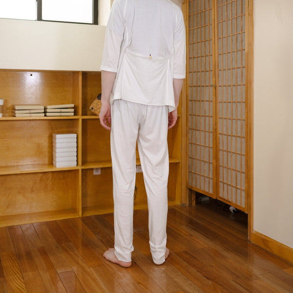 GARMENT-DYED JERSEY TROUSERS