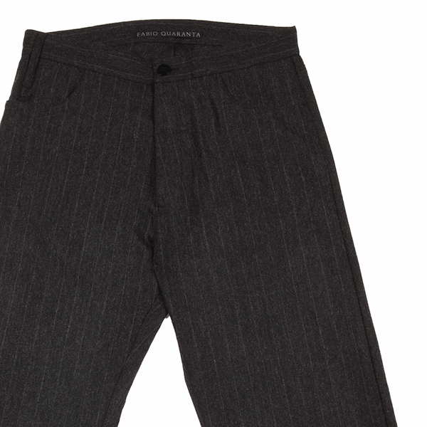 PINSTRIPE 5 POCKETS REGULAR TROUSERS
